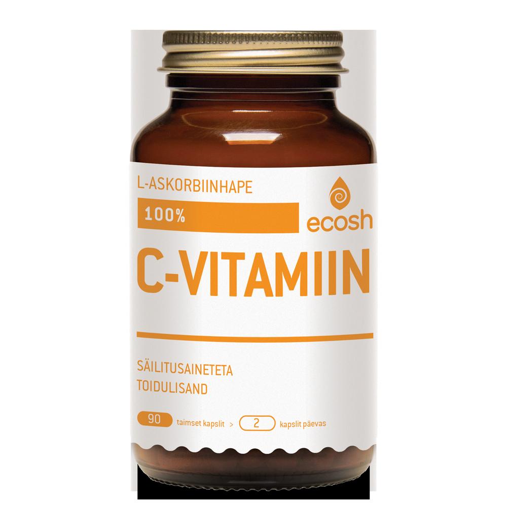 Vitamin C, 100% L-ascorbic acid