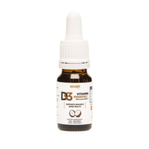 Vitamin D3 10 000 IU drop, MCT coconut oil, 10 ml