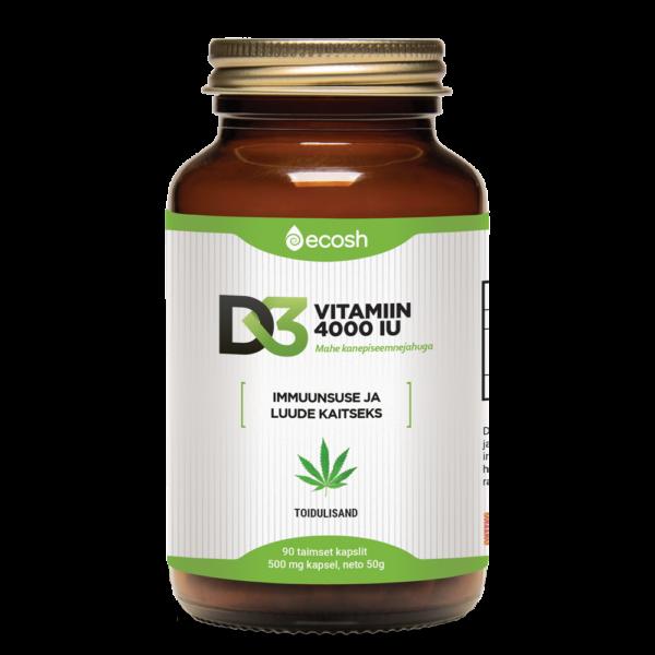 D3-vitamiin kanep kapsel