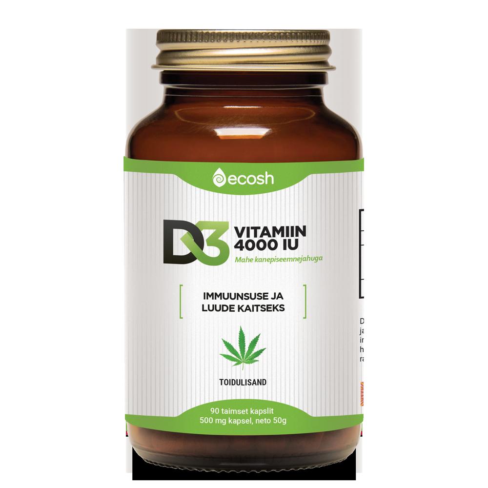 Vitamin D3, 4000IU/capsule