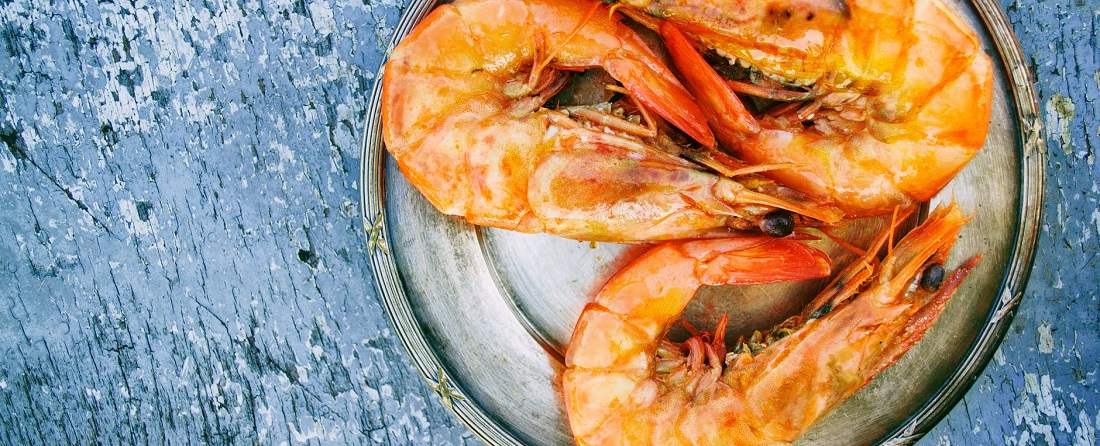Shrimps are rich in vitamin D