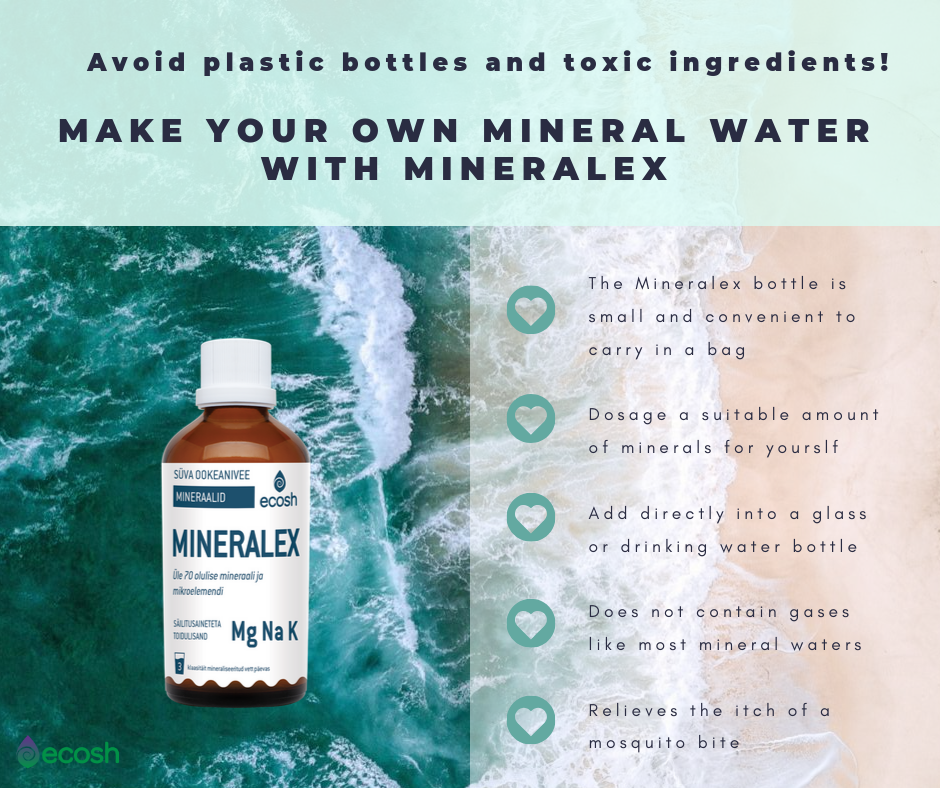 Mineralex-deep ocean mineral water concentrate for Diarrhea treatment