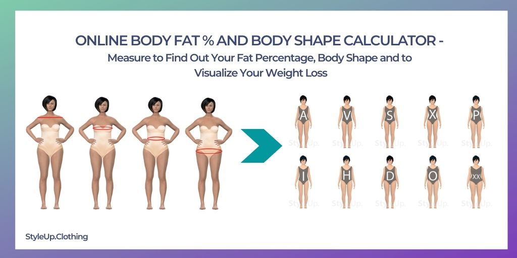 Online Body Fat Percentage and Body Shape Calculator, Visualize Your Weight Loss and Find out Your Body Shape