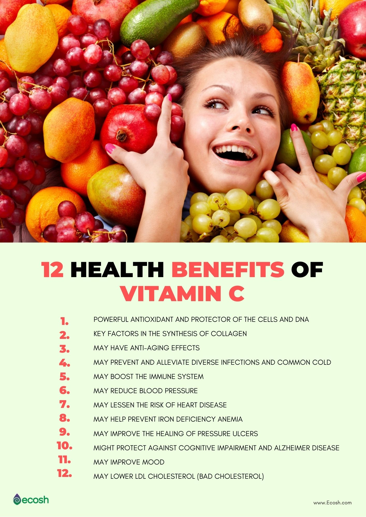 vitamin c - 12 health benefits and 24 vitamin c rich foods