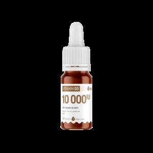 Vitamin D3 10 000 IU drop, MCT coconut oil, 10 ml